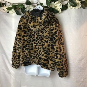 wild fable Tops - Wild Fable Cheetah Zip Up Hoodie with Ears